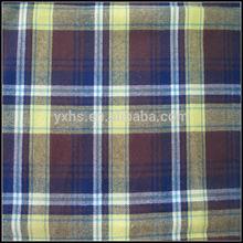 wholesale 100% cotton heavy flannel mens shirts fabric