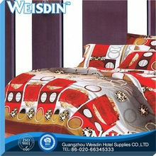 pure color classic European style bed sheets with dog print bedding sheet fabric