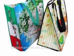 Shenzhen zipper tote bag for shopping pp woven bag 2014