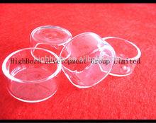 excellent quality clear quartz glass dish