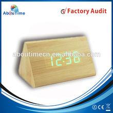 Digital wood led clock & wooden led alarm clock