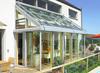 European style slant roof garden aluminum sunroom sunroom