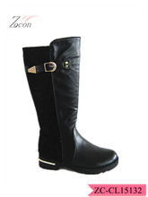 Steel heel double material boots for women thigh high