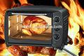 home forno elettrico colore nero girarrosto pollo pizza