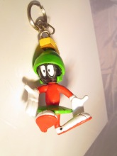 Looney tunes toons marvin martian plastic rubber pvc figure figurine keychain
