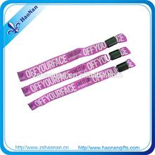 decorative screen printing decorative logo wristband with metal Sliding bead