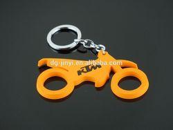 high quality motorcross motorcycle pvc keychain keyring for KTM