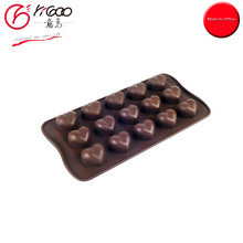 101865 Heart Shape Chocolate Mould Silicone 15-cup Chocolate Mould