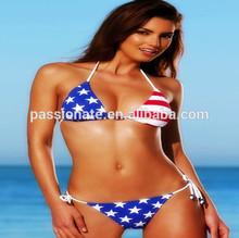 2014 china wholesale www com sex photo flag bikini swimwear swimsuit