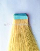 Wholesale 100% unprocessed virgin Brazilian 5A+ hair,Tape hair extentions