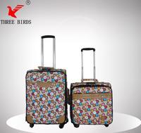 2014 new fashion PU sun flower motorcycle rear luggage box,travel house luggage,kids luggage