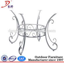 modern metal stainless base dining table