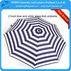 21inch black and white stripe 3 foldable umbrella