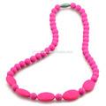 Perle de gros échantillon gratuit de silicone collier de soins infirmiers& dentition dentition