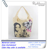 custom printed small zipper cotton canvas tote bags yiwu