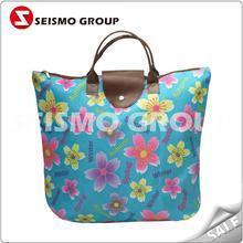 square bottom cotton shopping bag promotion nylon foldable shopping bags
