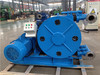 Large capacity hose squeeze pump, high suction lift hydraulic cement pump