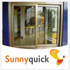 champagne color aluminum sliding window parts with mosquito screen made in China