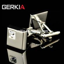 GERKIA white rhinestone crystal cufflinks male French cuff links cufflink for men's Gift free shipping 155753