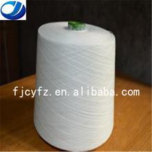 100% raw white spun polyester thread/yarn