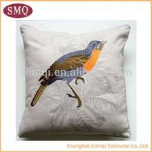 china supplier wholesale birds satin cushions