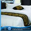 Korean Mediterranean style hotel ribbon work bed sheets designs