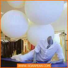 white decorative giant hanging Christmas ball