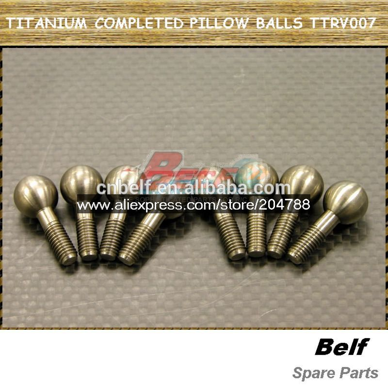 TITANIUM COMPLETED PILLOW BALLS - 8PCS TTRV007 ,traxxas rc car parts