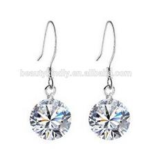 Han edition accessories wholesale 925 sterling silver crystal earrings Diamond eight heart, eight arrows zircon earrings