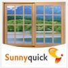 aluminum sliding window with mosquito screen