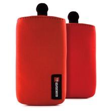 Universal red neoprene waterproof smartphone bag sleeve