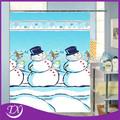 Bonhomme de neige de bande dessinée rideaux de douche 100% polyester salle de bains rideau