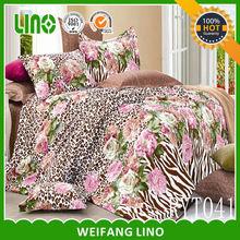 fashion duvet cover set/quality cotton bed sheet/european size duvet covers