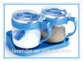 Garrafas de vidro/cruets para temperar com torneira de plástico