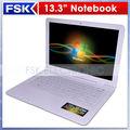 Comprar computadores notebook na china 13.3 polegadas intel d2500 2gb 500gb ram hdd de pc