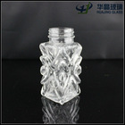 60ml fancy sealed square spices cut glass bottle with screw cap decorative pepper shaker wholesale