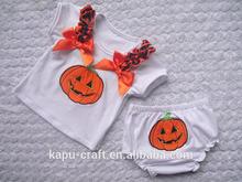 Nueva llegada vestido de algodón trajes para el bebé de la muchacha para halloween