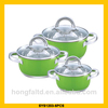 2014 colorful stainless steel first horse cookware set with 7-layers bottom