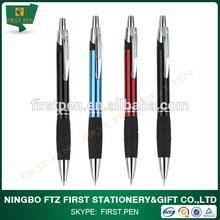 Soft rubber grip promotional aluminium ballpoint pen