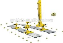 Collision Repair floor system on ground F2/CE car frame machine