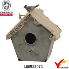 fabric roof handmade cute metal bird house