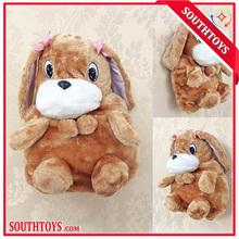 Cartoon kids backpack plush dog toys wholesale