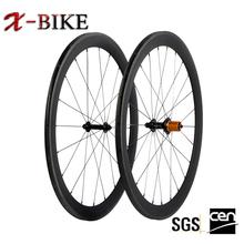 XBIKE only 1130g high stiffness 700c lightweight tubular carbon fiber bike wheelset