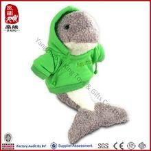 Wholesale Cheap Stuffed Soft Water Animal Plush T-shirt Dolphin