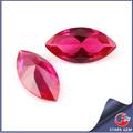 marquesa corte de piedras preciosas sintéticas joyería ruby