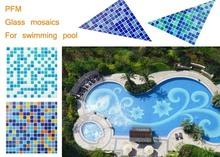 mixed colors regular size swimming pool floor mosaic art