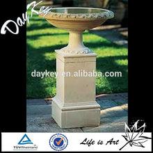 Garden Decorative Granite Stone Carving Birdbath For Garden Decoration