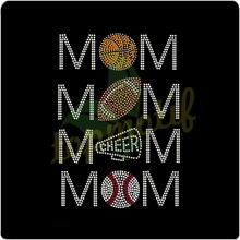 Hotfix Motifs Basketball Football Cheer Mom Rhinestone Iron On Transfer For Rhinestone Headbands