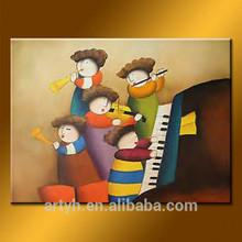 New arrival music handmade cartoon art oil painting