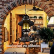 Modern black brass colored glass chandelier